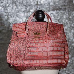 Preston & York croc embossed leather bag